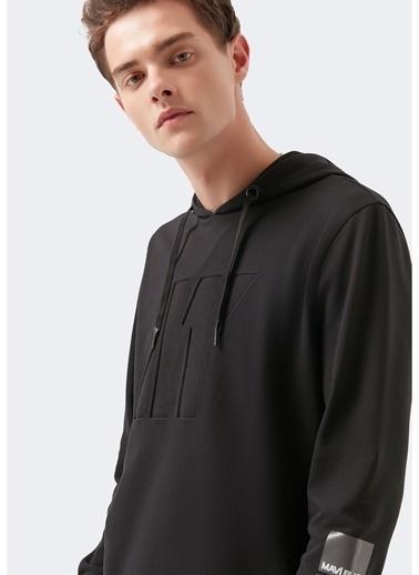 Mavi Mavi 066639-900 Pro Baskılı Siyah Sweatshirt Siyah